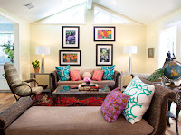 Teal Accent Color Living Room