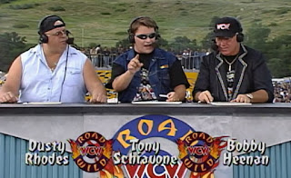 WCW Road Wild 1997 Review - Dusty Rhodes, Tony Schiavone, and Bobby Heenan were the event announcers