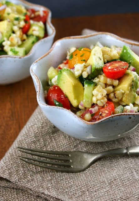 The Food Health: Healthy Lunch for Summer: Grilled Corn Salad