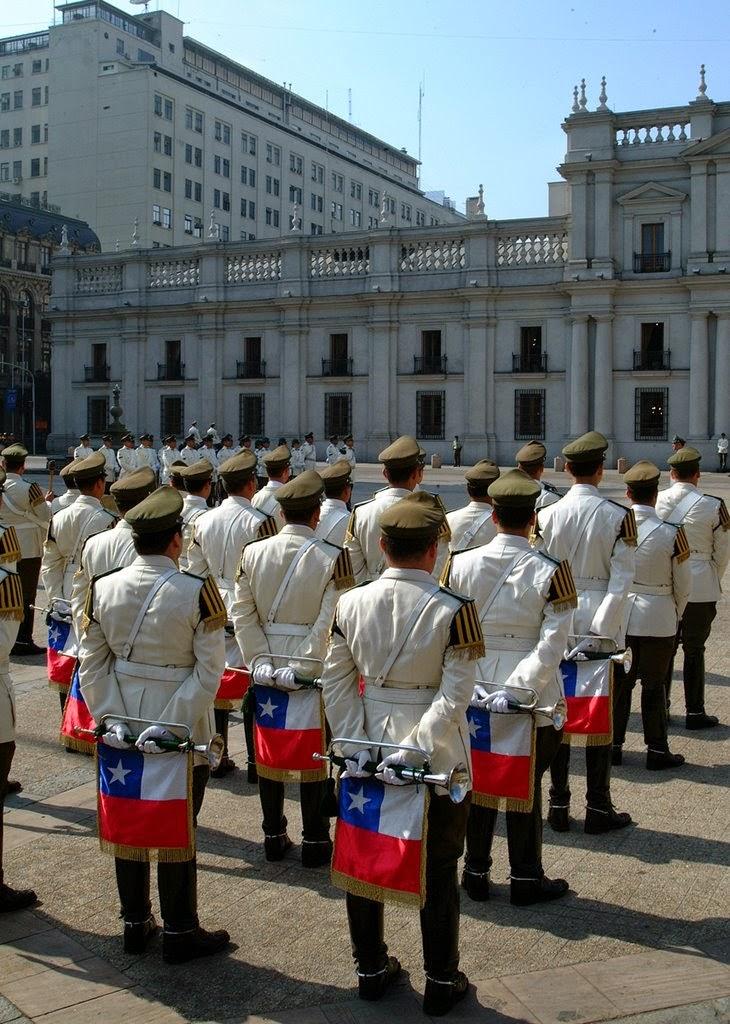 Troca da guarda- Palácio de La Moneda