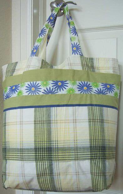 Grocery Bag Shopping Tote From 2 Pillowcases