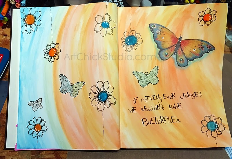 Butterflies Art Journal
