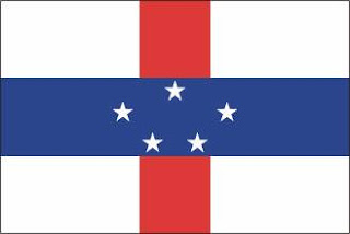 Bandeira das Antilhas Holandesas - Território da Holanda