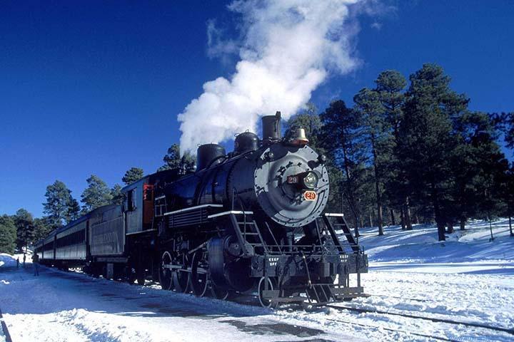 kışın kara tren resimleri