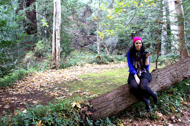 Emma Louise Layla at Glen Oaks log cabin hotel, Big Sur California - luxury travel blog