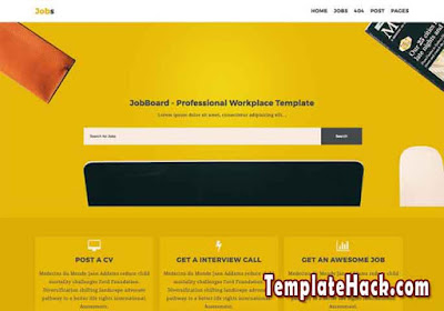 job business blogger template