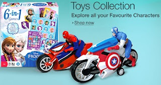 Minimum 50% Off on Games & Toys starts from Rs.50 @ Amazon