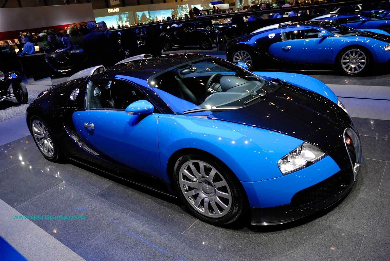 Blue Bugatti Veyron: Auto News: Bugatti Veyron (blue&black