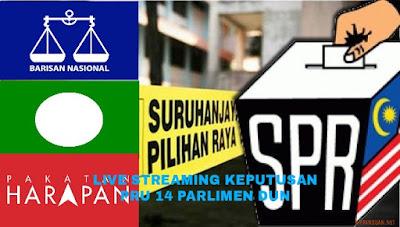 Live Streaming Keputusan PRU 14 Malaysia 2018