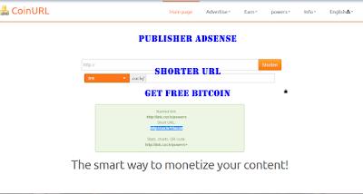 """Panduan lengkap Cara Daftar di CoinUrl """"Free Bitcoin Publisher dan Penyingkat Url """""""