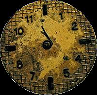 Relógio vintage em png