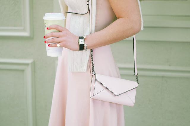 rebecca minkoff bag and david yurman cable bracelet and cartier tank watch