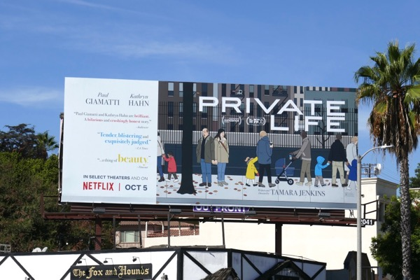Private Life movie billboard