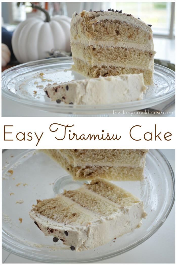 Easy Tiramisu Layered Cake