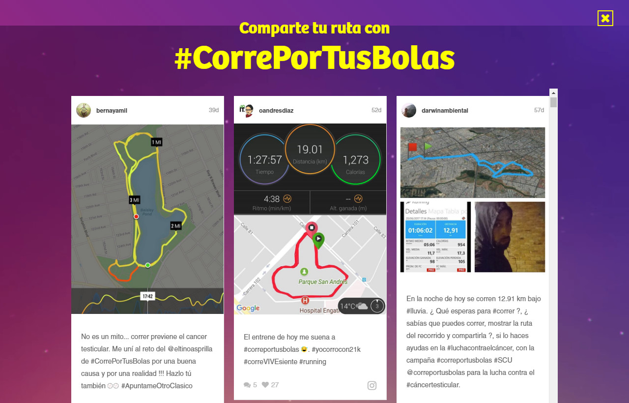 #CorrePorTusBolas Colombia