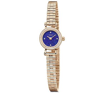 Hermès Faubourg Lapis Lazuli with diamond set rose gold case and bracelet