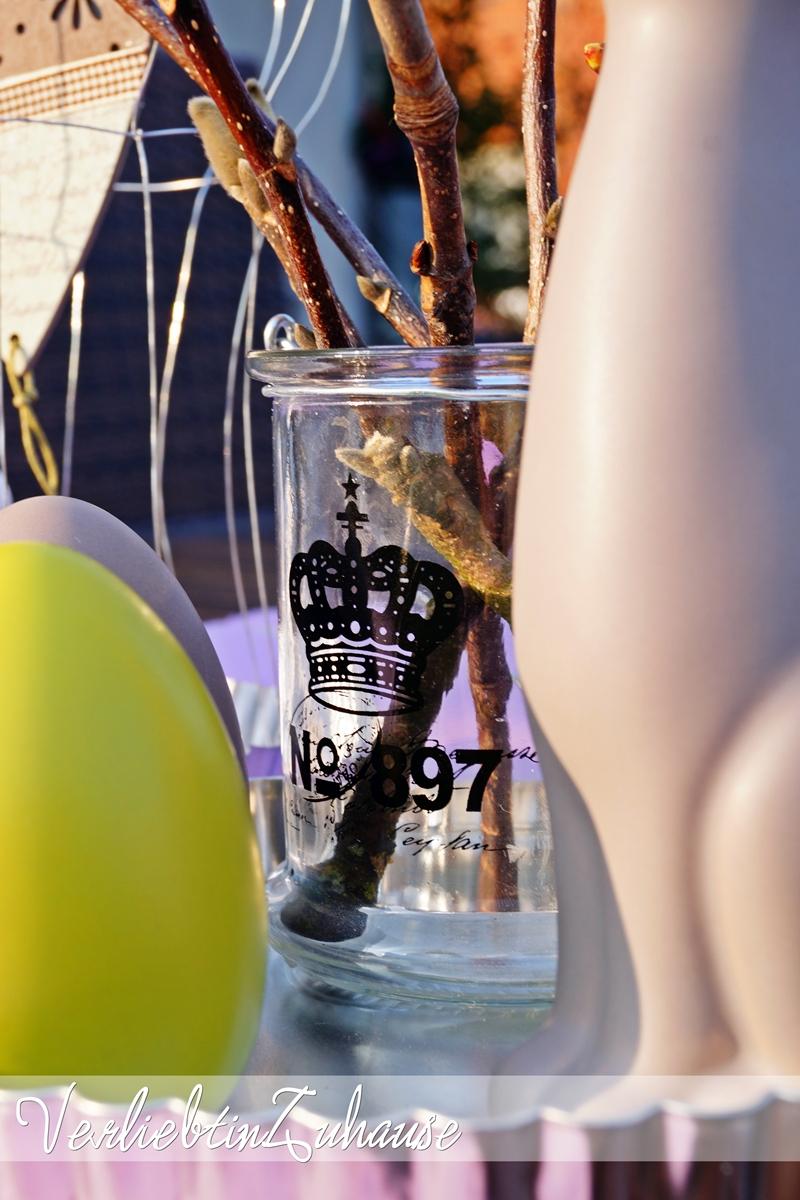 Frühlingsdeko Detail Glas Crown No 897