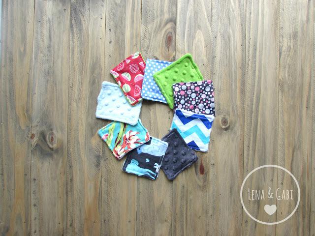 tampons démaquillants lavables Lena et Gabi Etsy