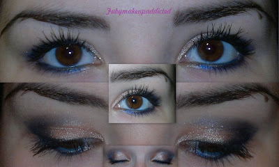 makeup of the day blue