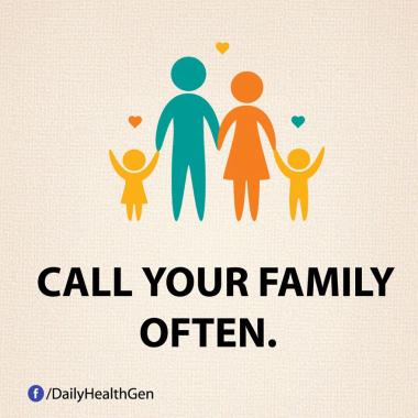 Hubungi Keluarga Kamu Sesering Mungkin (Identitas)