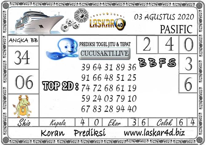 Prediksi Togel PASIFIC LASKAR4D 03 AGUSTUS 2020