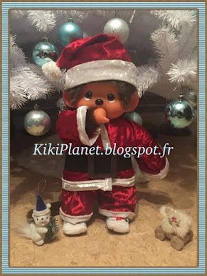 costume de Père Noël pour Monchichi ou Kiki 45 cm, taille L, déguisement, Noël, Santaclaus, handmade, fait main, couture