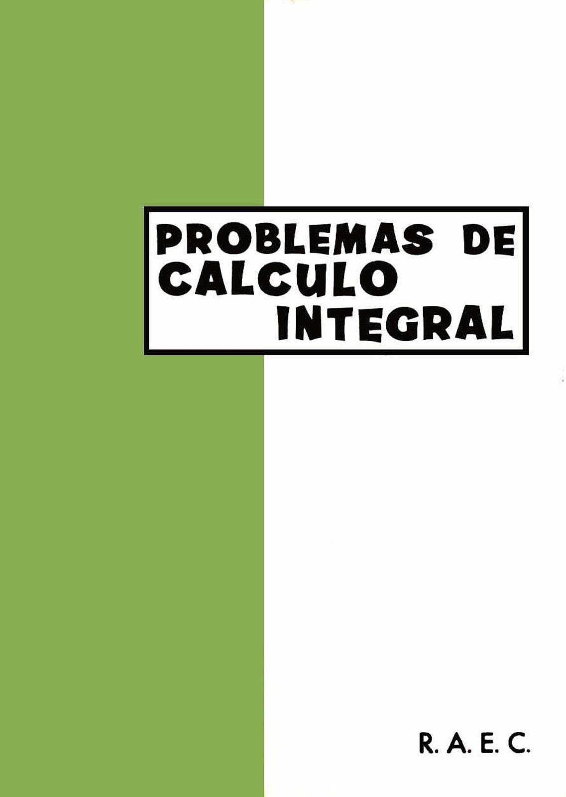 Problemas de Cálculo Infinitesimal – RAEC