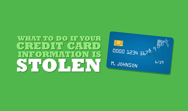 WHAT TO DO IF YOUR CREDIT CARD INFORMATION IS STOLEN infographic  Visualistan