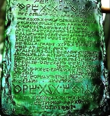 The emerald tablet and the mystery of the emerald tablet.