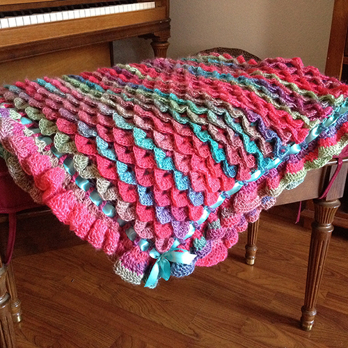 Crochet Guide: Crocodile Stitch Baby Blanket
