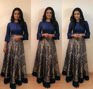 Keerthy Suresh in Blue Dress