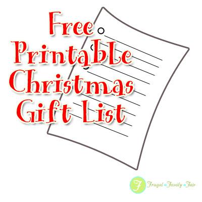 Free Printable Christmas Gift List  Christmas List Template Free
