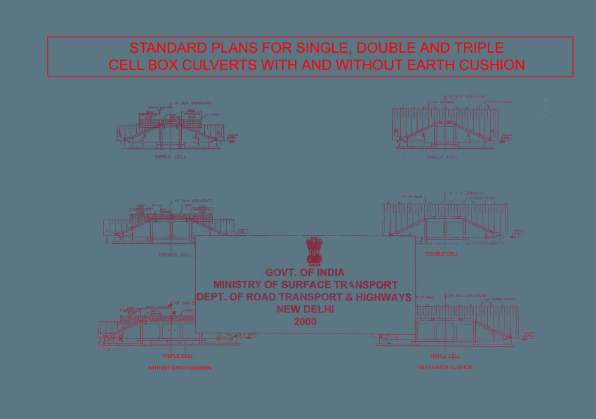Standard Plans For Single,Double,Triple Cell Box Culverts With