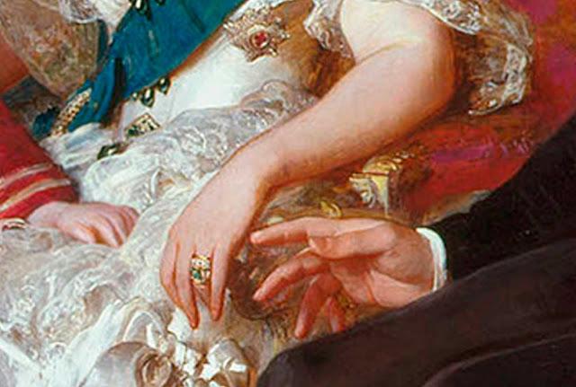 Rainha Vitória anel de noivado