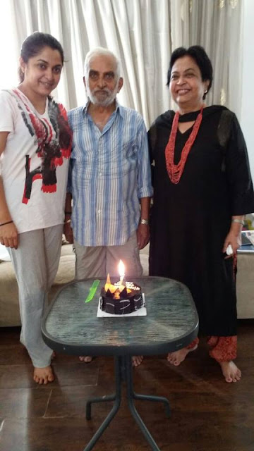 Ramya Krishnan with father and mother