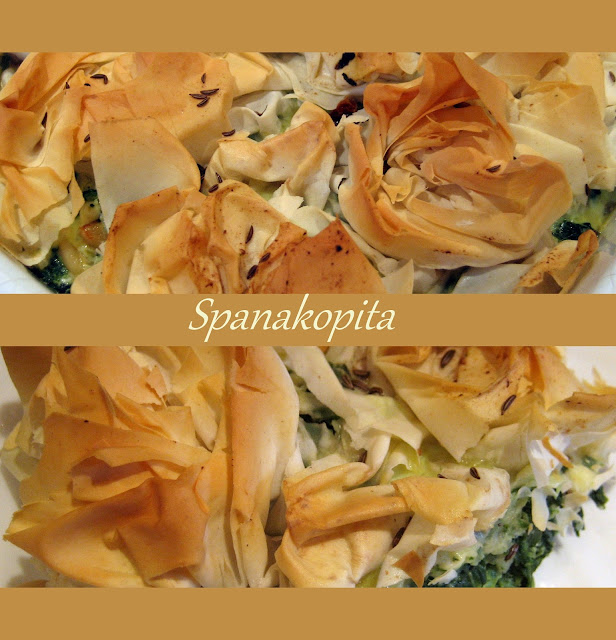 Spanakopita, Greek recipe, spinach, feta, filo pastry