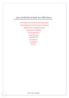 Les Conduites Tenir En Infectieux. C