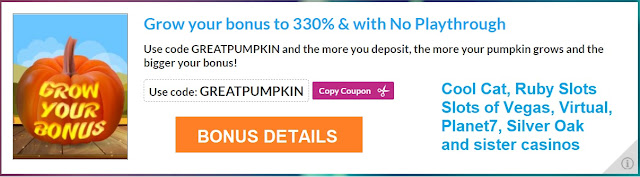 Halloween no playthrough bonus | RTG casinos