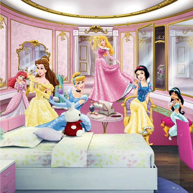 lasten tapetti Prinsessa lastenhuone tapetti valokuvatapetti lapsia