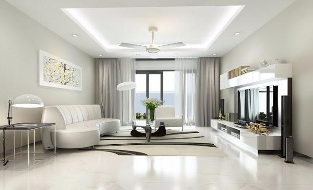Thiết kế phòng khách đơn giản, tinh tế
