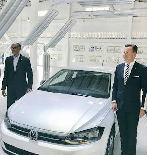Kagame Azindua Kiwanda Kipya cha Kutengeneza Magari ya Volkswagen