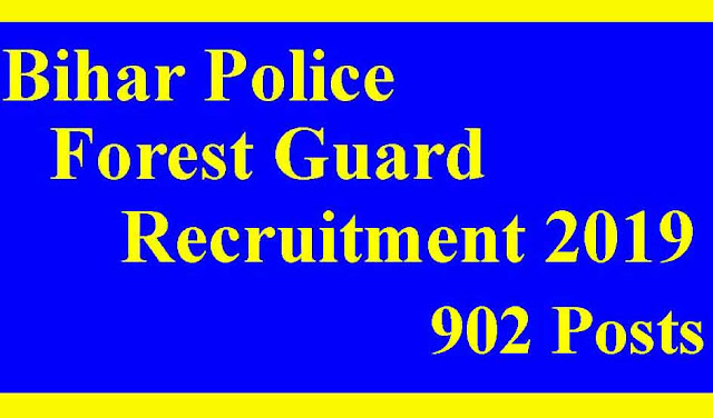 Bihar Forest Guard Online Form 2019  theskyindia.com