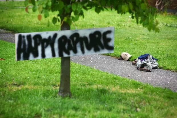 Funny Happy Rapture Joke Picture