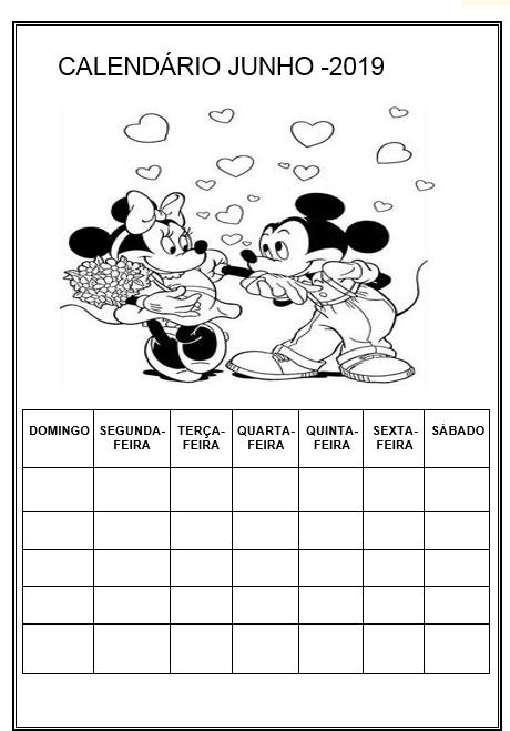 Calendario 2019 Turma Da Monica 8