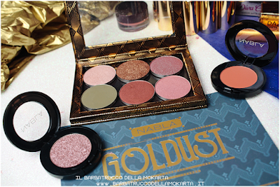 ombretti eyeshadow  goldust collection Nabla cosmetics