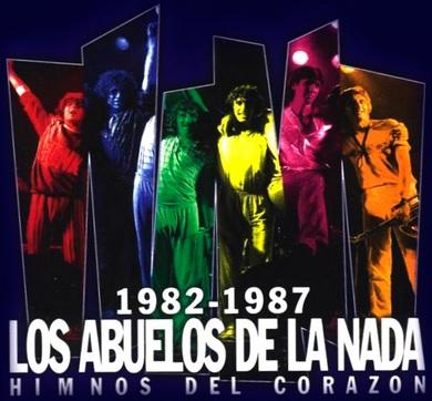 Foto de Los Abuelos de la Nada en portada de disco