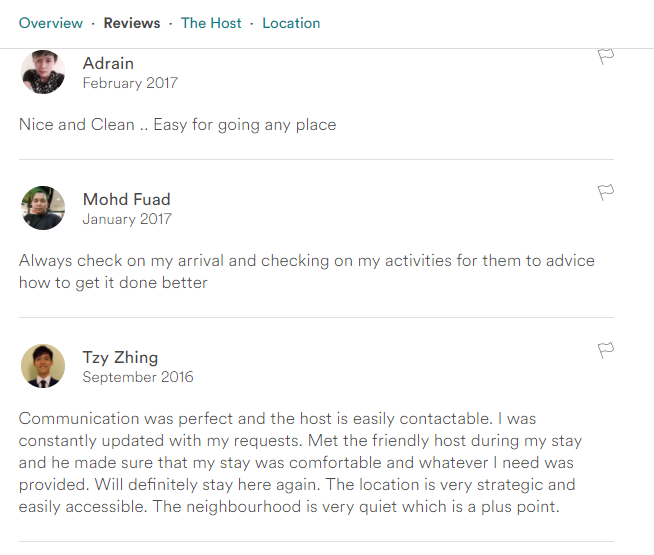 Review by Airbnb Guest: yellow single room