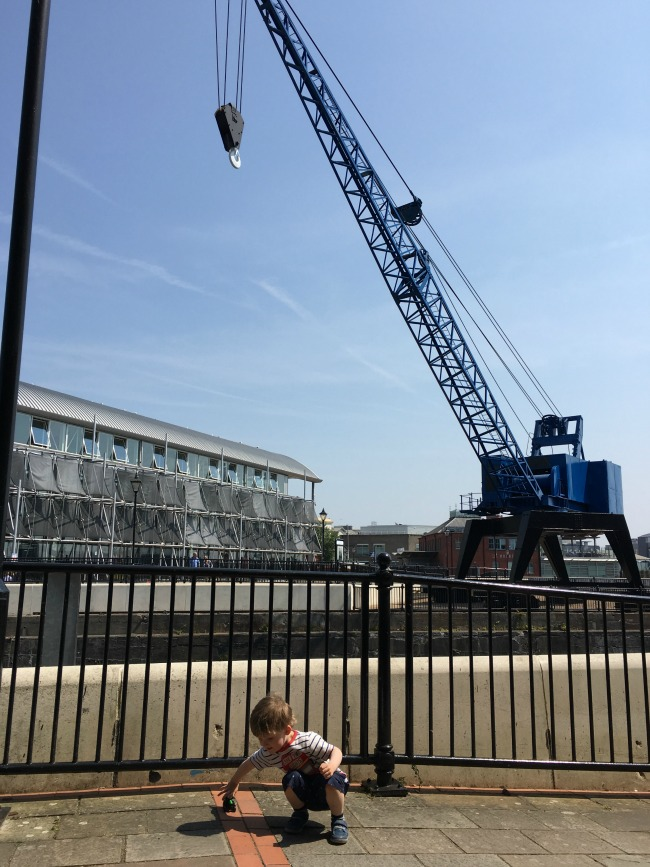 Our-weekly-journal-26th-June-2017-toddler-outside-Techniquest-Cardiff-Bay