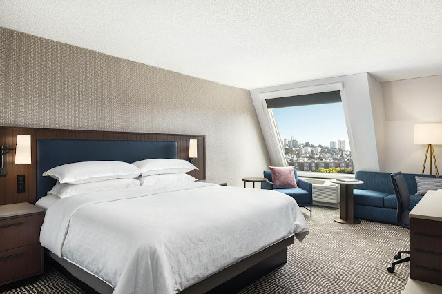 Book your hotel room or suite at San Francisco's Sheraton Fisherman's Wharf Hotel, a 4-star property located in one of the city's most popular areas.