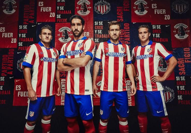 Los nuevos Kits de Atlético Madrid 2014-2015 son patrocinados por  Azerbaiyán. 5eec558012d2b